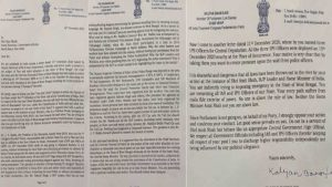 Kalyan-letter