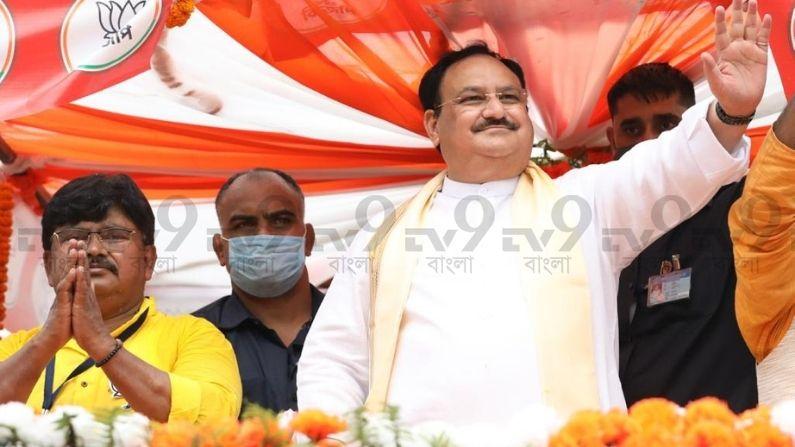 J P Nadda in Panihati Road Show